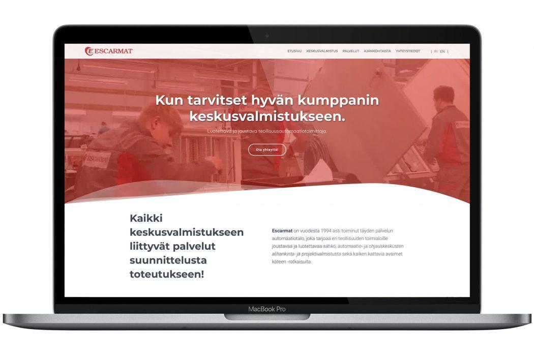 Escarmat julkaisi uudet verkkosivut – Huom! Seuraa meitä myös sosiaalisessa mediassa