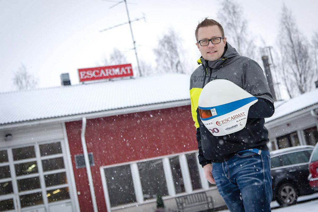 Escarmat Is Sponsoring Speed Skier Jukka Viitasaari in Winter 2019!