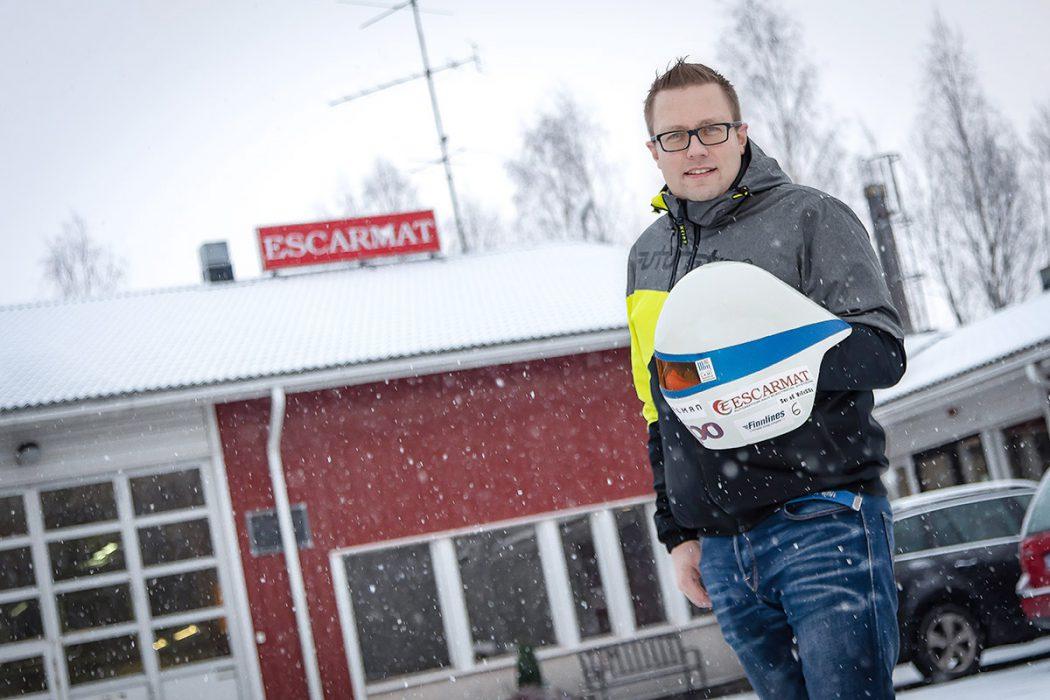 Escarmat sponsoroi nopeuslaskija Jukka Viitasaarta talvella 2019!